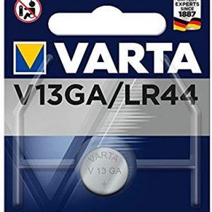 Varta V13GA V13GA-LR44-A76, 4276101401, Batteria Bottone, 1,5 Volts, Diametro 11,6 mm, Altezza 5,4mm, Confezione 1 pila, Alcalin