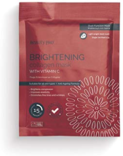BeautyPro BRIGHTENING Collagen Sheet Mask With Vitamin C (23g)