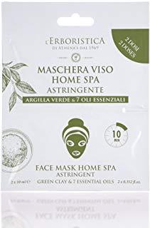 Maschera Viso Argilla Verde e 7 oli essenziali 2 x 10 ml