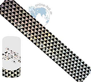 Trasferimento Schermo Triangoli di sfondo argento iridato
