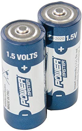 Powermaster 772254 Batterie Super Alcaline, 1.5 V,, Set di 2 Pezzi
