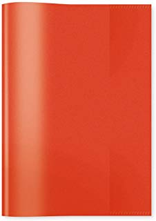 HERMA protegge-cahiers, 1 x A5, PP, colore: rosso trasparente
