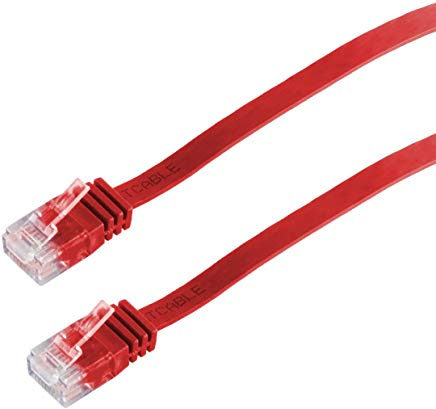 Helos 014858 Cat 6 UTP Cavo Patch Sottile 10 m Rosso