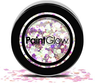 Paintglow Paintglow, Chunky glitter cosmetico per capelli, viso e corpo, Unicorn Tears, 3 G x
