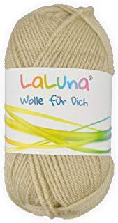 Creleo Tinta Unita,% cotone 100% Poliacrilico, lana, filo per lavorare a maglia e uncinetto, 50 G, 135 m cappuccino
