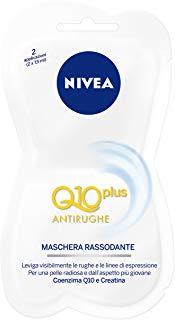 Nivea Maschera Rassodante Q10 Plus Antirughe Viso , 3 Confezioni 15 ml