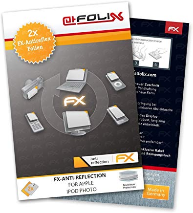 atFoliX FX-Antireflex, Apple iPod photo Apple iPod photo Protezione per schermo antiriflesso 2pezzo(i)