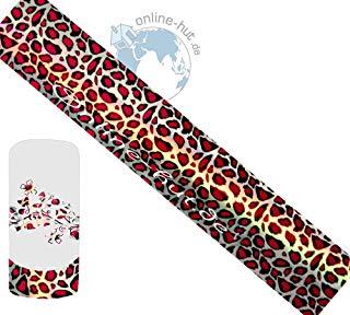 Trasferimento Schermo Leopard rosso di sfondo argento Shimmer ologramma