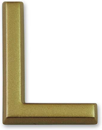 """Symbol LD37L Lettera""""L"""" - Plastica dorata adesiva - Altezza 37 mm"""