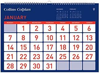 """Collins Colplan""""EasyView mensile calendario 2017"""