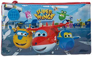 Super Wings Airport Beauty Case da viaggio, 22 cm, 0.13 liters, Multicolore (Multicolor)
