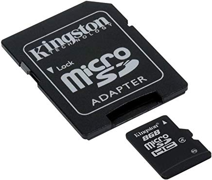 Kingston SDC4-16GB Memoria MicroSDHC con Adattatore SD, 16 GB, Class 4