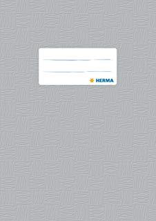 Herma 7428 copertina, DIN A5, plastica, ricoperto con rafia struttura, 1 pezzi, grigio