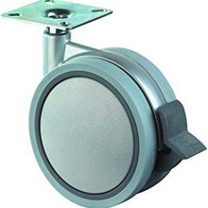 BS profibohrer plastica doppia-ruota orientabile con un'ampia piatto, asse blaha, di plastica, 60 mm, F329, 060