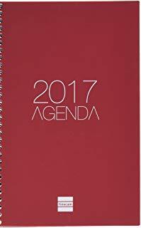 Cabero 948409 - Agenda vista settimanale 11.7x18.1 cm spagnolo, Bordeaux