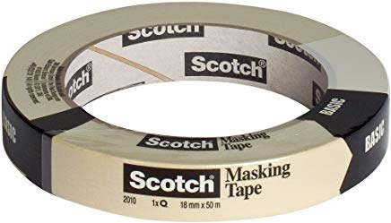 Scotch 2010-A Nastro Multiuso, Bianco, 18 mm x 50 m