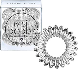 Invisibobble Traceless Hair Ring and Bracelet Suitable for All Hair Types Crystal Clear