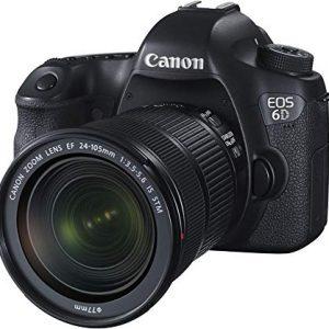 Canon EOS 6D Kit Fotocamera Reflex Digitale con Obiettivo EF 24-105 mm f-3.5-5.6 IS STM, 20 Megapixel, Nero-Antracite