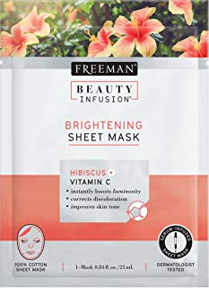 Bellezza illuminante infusione ibisco e vitamina C Sheet Mask