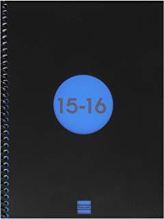 Finocam 633121016 scuola e10-Agenda con rilegatura a spirale, 1 giorno per pagina, colore: blu
