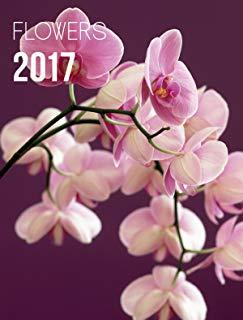 Yvon - Agenda 2017 con chiusura magnetica, motivo: fiori