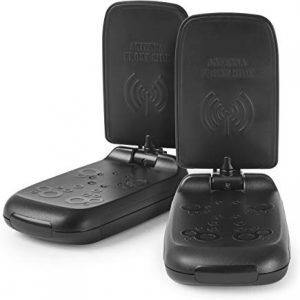 Meliconi AV 100 Mini Trasmettitore di Segnali Audio-Video Senza Fili, Banda di Trasmissione 5.8 Ghz, Nero