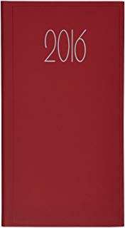 Italoagendas 94043-Agenda gommato 8 x 16 settimana vista, colore: rosso