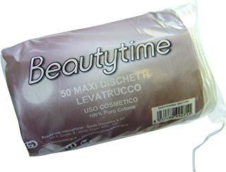 Beautytime Dischetti Levatrucco Cotone Maxi, 50 Pezzi