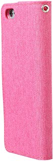 Ultratec Custodia Protettiva per iPhone 6 Effetto Tessuto di Lino, con Funzione Stand e Scomparti Interni, Rosa