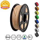 Wood Filament - 1.75 mm 3D Printer Filament,1kg Spool (2.2 lbs), Dimensional Accuracy +-- 0.02 mm Sweet Smell 3D Printing Filame
