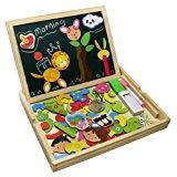 Fajiabao Educativi Giocattolo Magnetica Lavagnetta Puzzle di Legno Doppio Lato Gioco per Bambini 3 Anni, Stile Casuale: Amazon.i