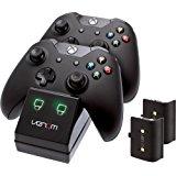 Venom Twin Docking Station da XBOX One - Base di Ricarica per 2 XBOX One Controller - 2 batterie ricaricabili incluse: Microsoft