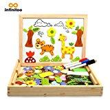 Puzzle Magnetico Legno Lavagna Magnetica Bambini Infinitoo Puzzle Numeri 100 Pezzi Animali Vegetazione Giochi Educativi Giochi C