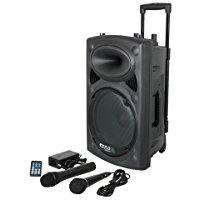 Ibiza PORT8VHF-BT-WH Impianto audio portatile cassa attiva (400 Watt, ingressi USB SD MP3, 2 microfoni, batteria integrata, tele