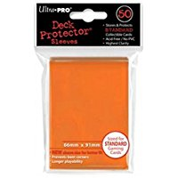 Deck Protector Sleeves: 50 Solid Orange