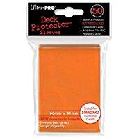 Deck Protector Sleeves: 50 Solid Orange