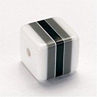 KnorrPrandell G&uuml,termann 2209627 - Dadi di plastica, confezione da 12, colore: Bianco-Grigio-Nero