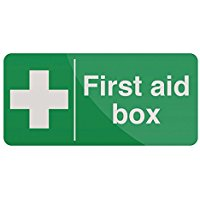 "FIXMAN 349616 200 x 100 mm, scritta in inglese""First Aid Box"""