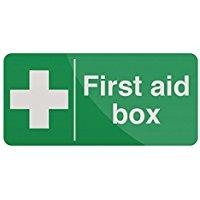 "FIXMAN 349616 200 x 100 mm, scritta in inglese""First Aid Box"""