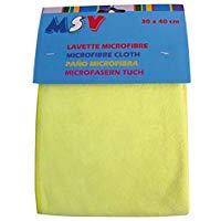 homeXpert MSV 100068,03 asciugamani, 40 x 30 x 3 cm, Microfibra, giallo, 40x30x3 cm