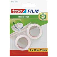 Tesa 57649-00000-01 Tesafilm Invisible, 2 Rotoli