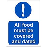"""seco cs004sav-150 200 x 150 x 200 mm, autoadesiva""""obbligatorio tutti i prodotti alimentari devono essere coperto e datato"""" Sign"""