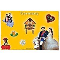 Fridolin 18802 Germania panno di pulizia per occhiali mussolina, colore: multicolore, dimensioni: 18 x 12,5 x 1 cm