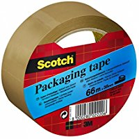 Scotch 94804 Nastro per Imballo, 38mm x 66m, colore Marrone Avana, 1 rotolo