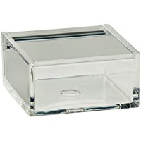 "kela ""Safira Utensiles Box, Plastica, Trasparente, 6 x 6 x 3 cm"