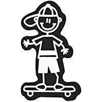 Family Car Decals ADH06655 Adesivo Bambino Cappello e Pattino My Family