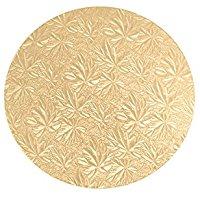 HABI Wood200 sotto Torta Cartone Tondo Decorato, 20 cm, Oro