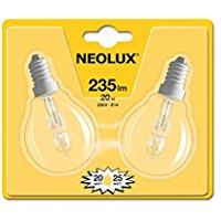 Neolux Lampada Alogena E14, 20 W, Confezione da 2