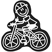 Family Car Decals ADH06679 Adesivo Uomo Bici My Family