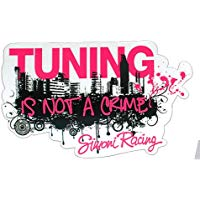 "Simoni Racing SCS-CITY Adesivo ""Tuning is Not a Crime"""